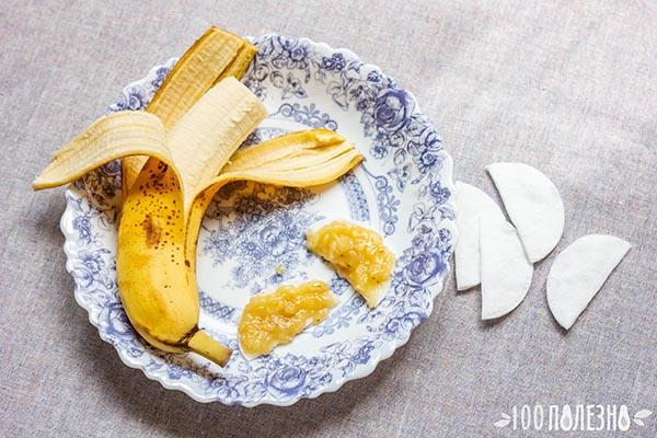 Домашние патчи от морщин и отеков из банана