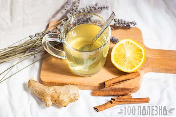 Вода с медом, лимоном и корицей
