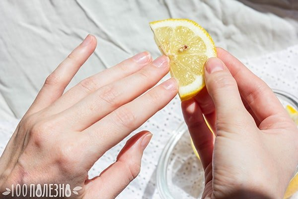 Желтые ногти и
