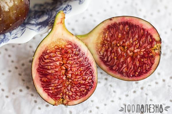 Плод инжира в разрезе крупно