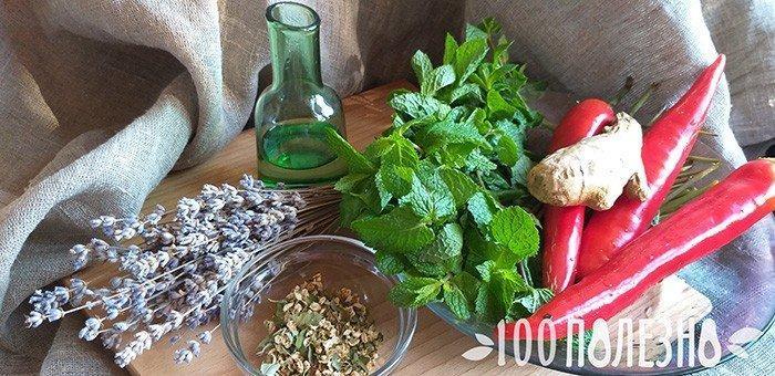 травы которые лечат мигрень: лаванда, мята, перец, имбирь