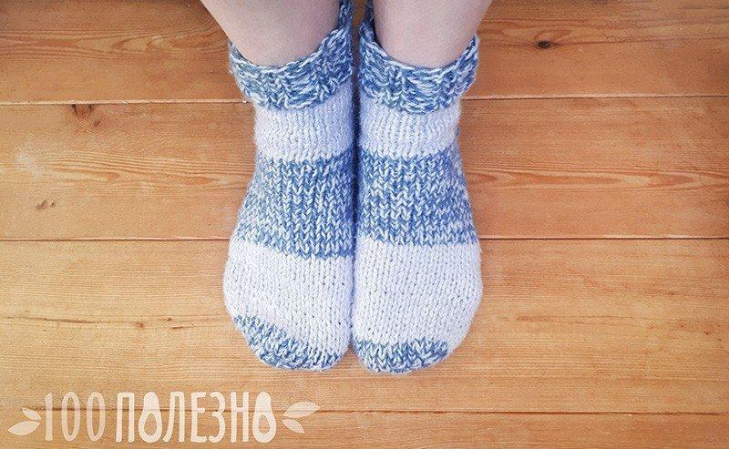Трещины на пятках под шерстяными носками