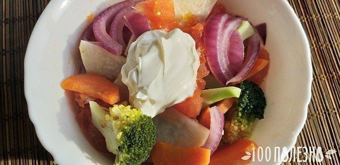 сельдерей тушеный с овощами