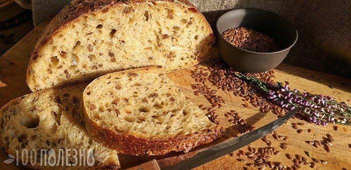 Хлеб с проростками льна
