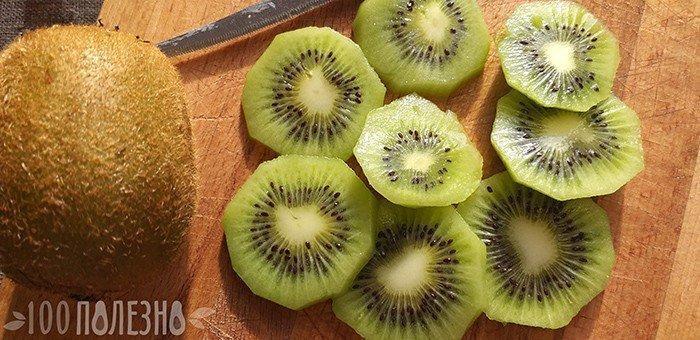 плоды актинидии в разрезе