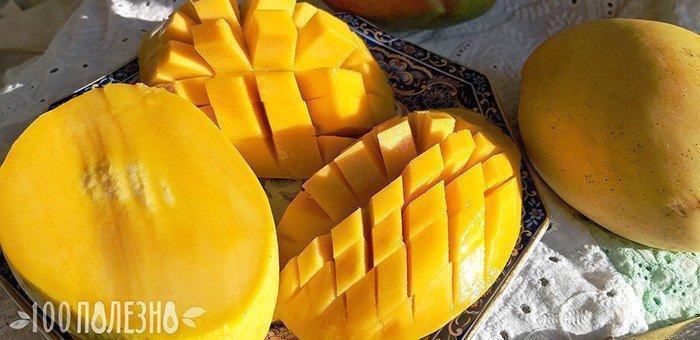 желтый спелый манго фото