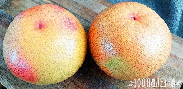два целых грейпфрута