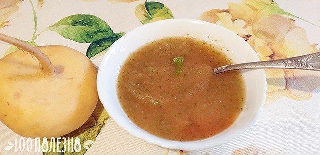 суп-пюре из репы с паприкой