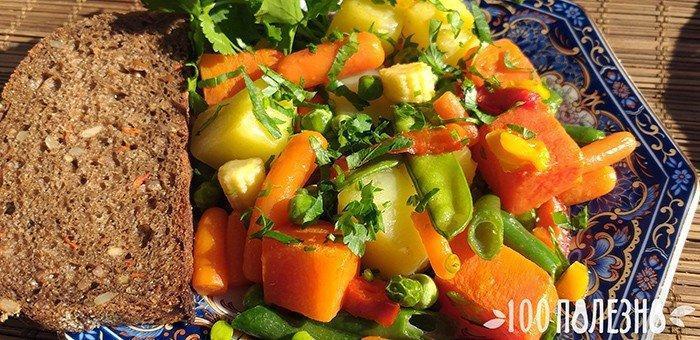 батат с овощами
