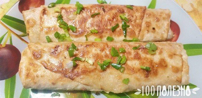вегетарианская шаурма с начинкой из черемши