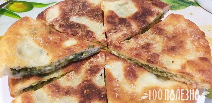 пирог с черемшой и сыром