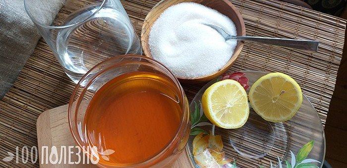 ингредиенты для сахарной эпиляции