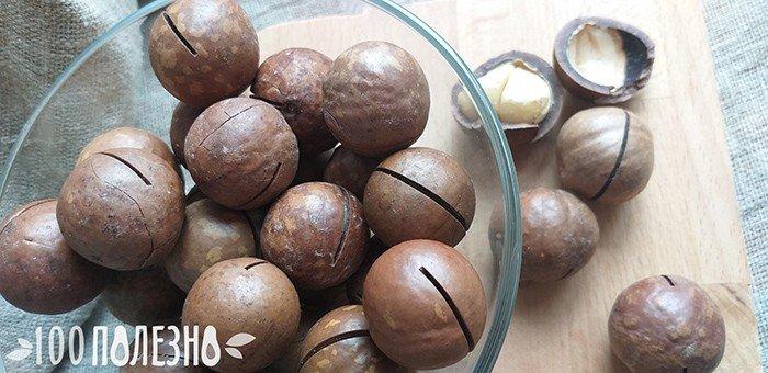макадамский орех неочищенный
