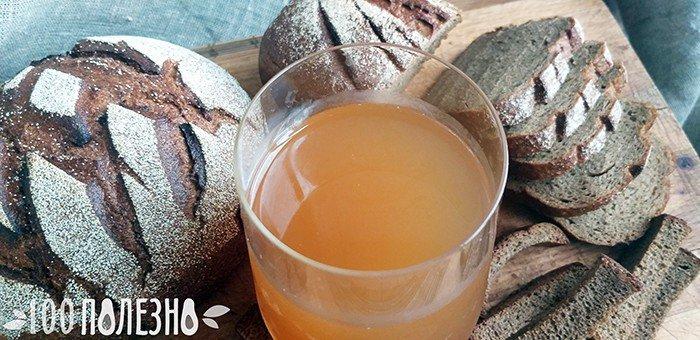 Ржаной хлеб, сухарики и квас