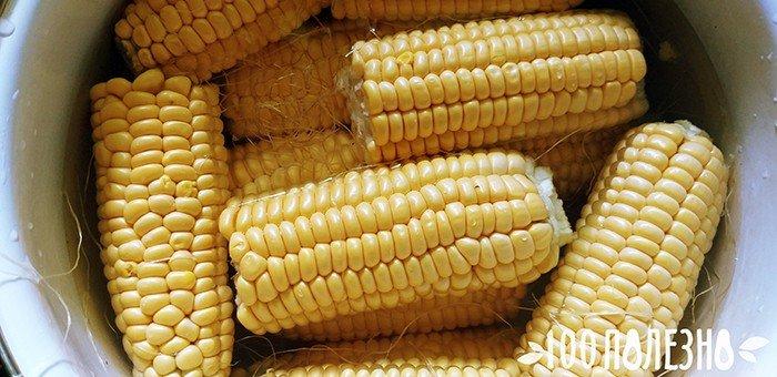 кукурузные початки в кастрюле с водой