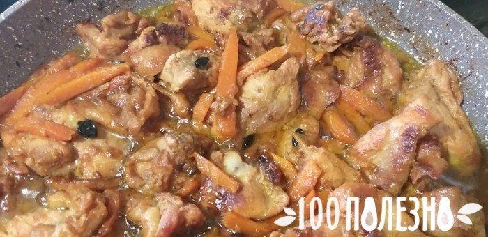 зажарка из курицы и овощей для плова