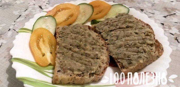 бутерброды с паштетом из бобов мунг
