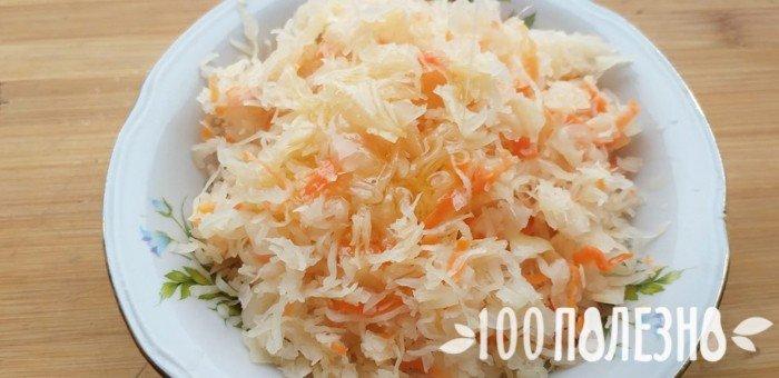 капуста квашеная с морковью