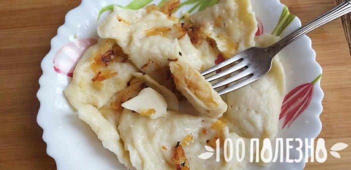 вареники с картошкой и капустой