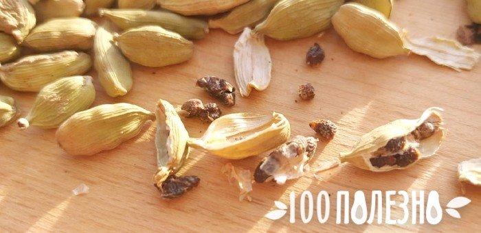 открытые стручки с семенами