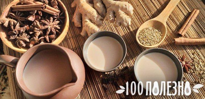 масала чай с имбирем в глиняной посуде
