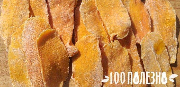 кусочки сушеного манго